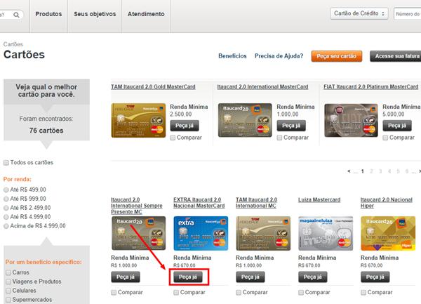 Diferença entre cartão de crédito do Banco Itaú e o Itaucard ... 78871aa747389