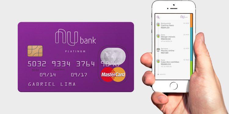 Cartão de credito sem anuidade Nubank