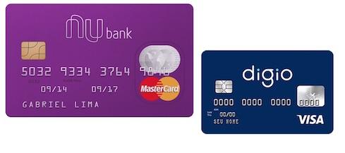 Nubank à esquerda e Digio à direita, qual cartão tem o melhor custo-benefício?