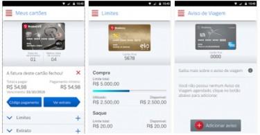 Gerenciamento completo do cartão de crédito agora pode ser feito por meio do aplicativo Bradesco Cartões (divulgação)