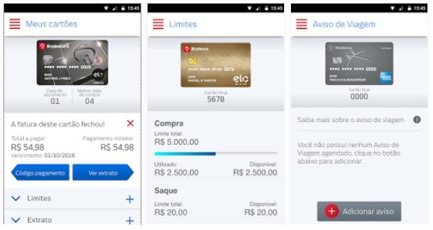 ae62b7593 Gerenciamento completo do cartão de crédito agora pode ser feito por meio  do aplicativo Bradesco Cartões