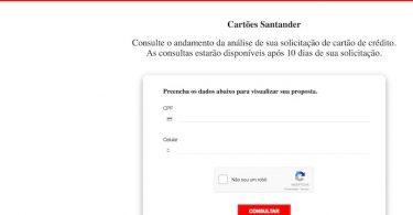 Status cartão Santander
