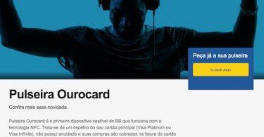 Pulseira Ourocard VISA