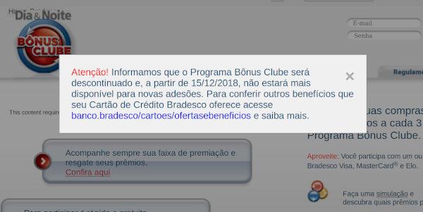 Bradesco Bônus Clube Fim