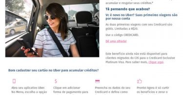 Credicard e Uber 10+1