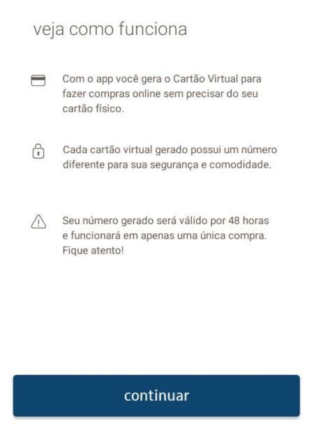 APP Credicard - Cartão Virtual