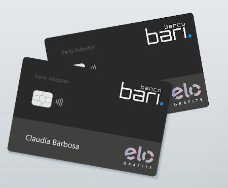 Cartão Banco Bari ELO Grafite Internacional