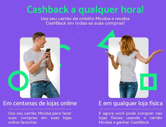 Mooba Cashback no cartão