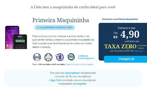 Cielo Promoção Taxa Zero nas Vendas