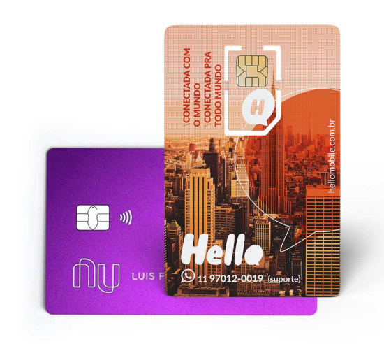SIM Card Internacional Nubank e Hello Mobile