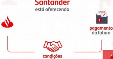 Santander Condições Melhores Parcelamento de Fatura