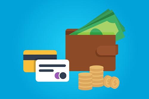 Cartão, dinheiro e pagamento