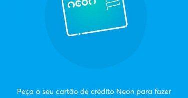Tela de pedido de crédito Neon