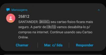 Santander desativa cartão de crédito físico para compras pela internet