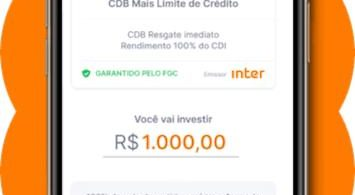 CDB Mais Limite do Banco Inter