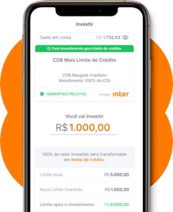CDB Mais Limite do Banco Inter