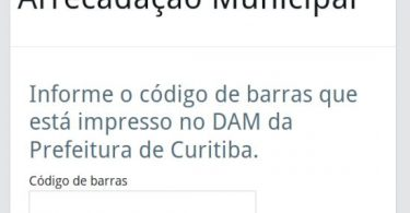 Curitiba pagamento de impostos no cartão